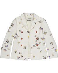 Acne Studios - White Cotton Jacket - Lyst