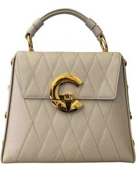 Roberto Cavalli Leather Handbag - White