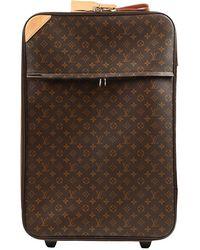 Louis Vuitton Borsa da viaggio in tela marrone Pegase