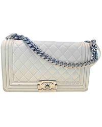 Chanel Boy Leder Handtaschen - Weiß