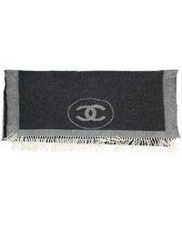 Chanel Grey Cashmere Scarves - Gray