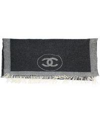 Chanel Kaschmir Schals - Grau