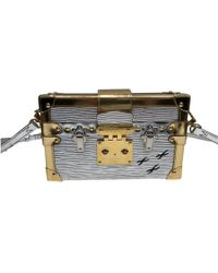 Louis Vuitton - Pre-owned Petit Malle Leather Handbag - Lyst