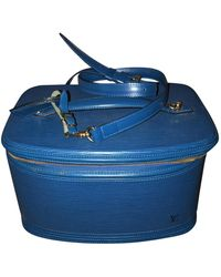 Louis Vuitton Leder Vanity - Blau