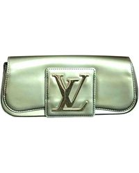 Louis Vuitton Sobe Patent Leather Clutch Bag - Metallic
