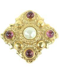 Chanel Perle Broschen - Mettallic