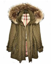 Burberry Khaki Cotton Jacket - Green