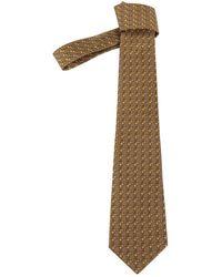 Hermès Cravates en Soie Marron - Multicolore