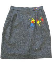Olympia Le-Tan - Mini jupe en laine - Lyst