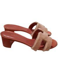 Hermès Oasis Pink Mink Sandals