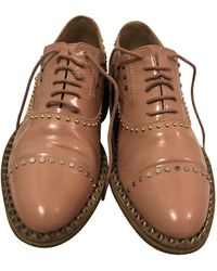 Zadig & Voltaire Pink Patent Leather Lace Ups