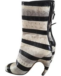 Givenchy Python Boots - Gray