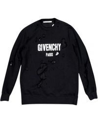 Givenchy - Black Cotton Knitwear - Lyst