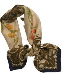 Hermès Seide Halstuch - Weiß