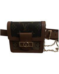 Louis Vuitton Bolsa clutch en lona marrón Dauphine Belt Bag