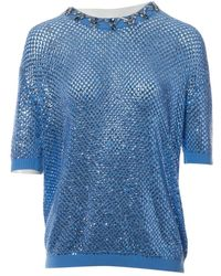 Jenny Packham Camisa en cachemira azul