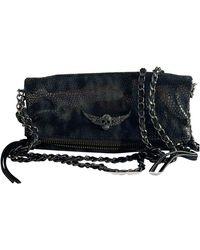 Zadig & Voltaire Rock Leather Clutch Bag - Black