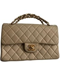 Chanel Timeless/classique Beige Leather Handbag - Natural