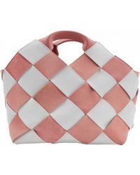 Loewe - Pre-owned Basket Bag Pink Leather Handbags - Lyst cb329ee2b93e9