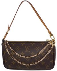 Louis Vuitton Pochette Accessoire Brown Cloth
