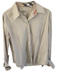 Burberry Top in cotone beige - Neutro