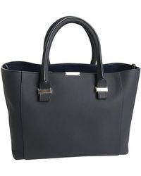 Victoria Beckham Mini Victoria Bag Leather Tote - Black