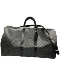 Louis Vuitton Bolso de viaje Keepall de Lona - Gris