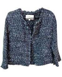 Étoile Isabel Marant Giacca in lana antracite - Blu