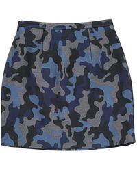 Christopher Kane Gray Silk Skirt