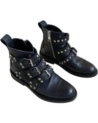 Zadig & Voltaire Laureen Spikes Leather Boots - Black
