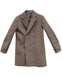 A.P.C. Brown Wool Coats