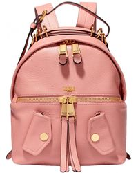 Moschino - B Pocket Textured-leather Backpack - Lyst