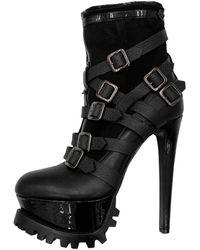 Philipp Plein Leather Heels - Black