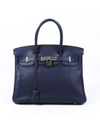Hermès Birkin 30 Leder Handtaschen - Blau