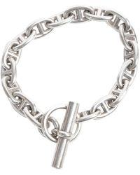 Hermès Chaîne d'Ancre Silber Armbänder - Mettallic