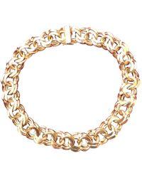 Lanvin - Vintage Gold Metal Necklace - Lyst