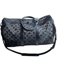 Louis Vuitton Keepall Cloth Travel Bag - Black
