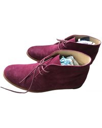 Opening Ceremony Leather Lace Ups - Purple