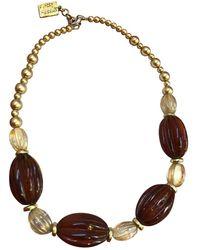 Isabel Marant Collana in perle marrone