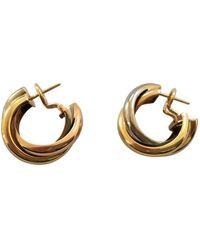 Cartier Boucles d'oreilles Trinity en Or jaune Rouge