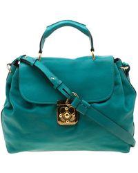 Chloé - Elsie Blue Leather Handbag - Lyst