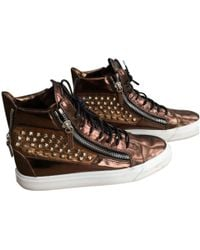 Giuseppe Zanotti - Pre-owned Brown Leather Trainers - Lyst