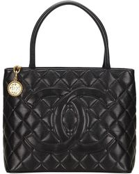 Chanel - Médaillon Leather Tote - Lyst