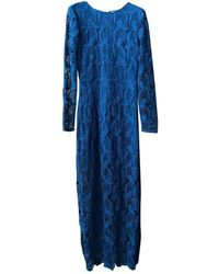 Maje Robe en Polyester Turquoise - Bleu
