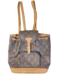 Louis Vuitton Zaino in tela marrone Montsouris