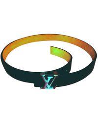 Louis Vuitton Shape Leather Belt - Black