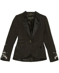 Barbara Bui - Black Cotton Jacket - Lyst