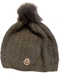 Moncler Bonnet en laine - Gris