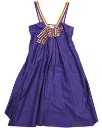 Sonia Rykiel - Purple Silk Dress - Lyst