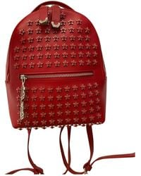 Philipp Plein Leather Backpack - Red
